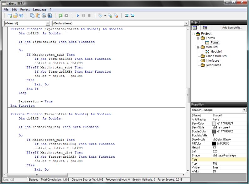 Jabaco v1.4 Screenshot